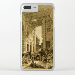 Roberts, David (1796-1864) - The Holy Land 1855, The silk-mercer's bazaar, Cairo Clear iPhone Case