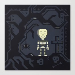 Skeleton boy artwork Canvas Print