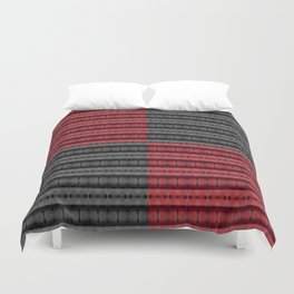 Presence of Anger in Red, Black, and Grey Duvet Cover