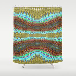 Earth Layers zigzag Abstract 1 Shower Curtain
