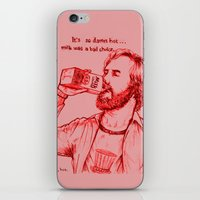 anchorman iPhone & iPod Skins featuring Anchorman: Milk was a Bad Choice by Red Misery