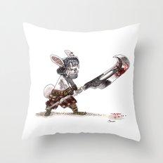 Lapin Barbare Throw Pillow
