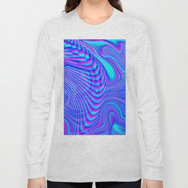 GLITCH MOTION WATERCOLOR OIL Long Sleeve T-shirt