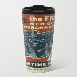 Vintage poster - U.S. Maritime Service Travel Mug