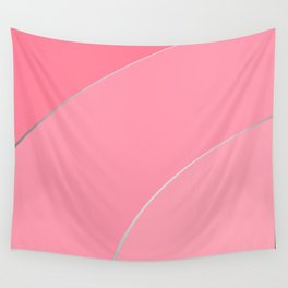 Texture Pattern Pastel Pink Line Abstract Design Wall Tapestry