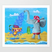 Art Print featuring cooling off by Azbeen