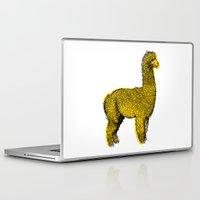 alpaca Laptop & iPad Skins featuring huacaya alpaca by youareconstance