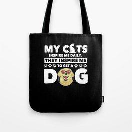 Funny Dog Gift Dog Owner Cat Lover Tote Bag