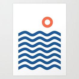 Nautical 02 Seascape Art Print