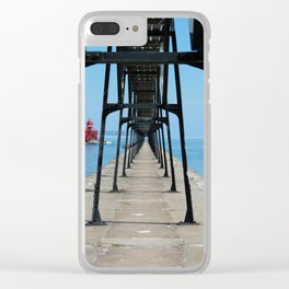 Canal Pierhead Light House Pier Clear iPhone Case