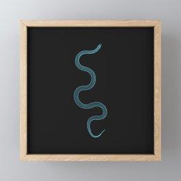 Hug Me - Snake Illustration Framed Mini Art Print