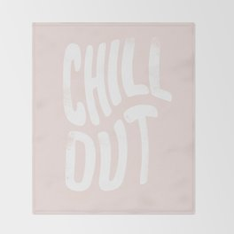 Chill Out Vintage Pink Throw Blanket