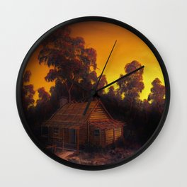 PIONIERS LOG CABIN Wall Clock