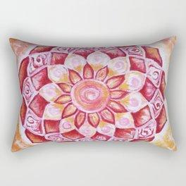 Flower Sun Mandala Rectangular Pillow