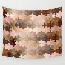 Skin Tone Jigsaw Pieces Wall Tapestry