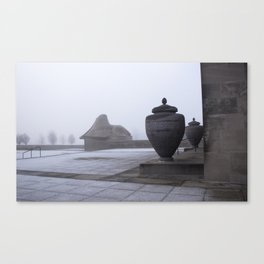 Sphinx in Fog Canvas Print