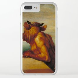 The Minotaur by George Frederic Watts Clear iPhone Case