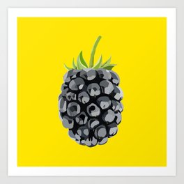 Blackberry Illustration Art Print