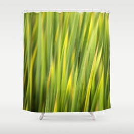Green Nature Abstract Shower Curtain