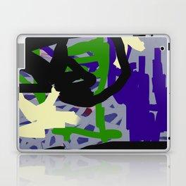 Purple, Green & Gray Abstract Laptop & iPad Skin