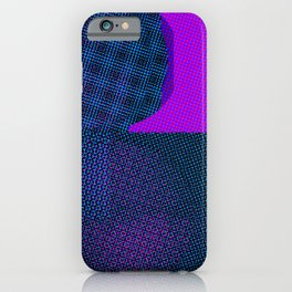 Blue Pink Abstract Texture iPhone Case