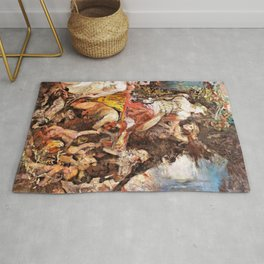 Triumph of Diana with Bacchus - Digital Remastered Edition Rug
