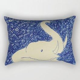 Elephant Doodle # 2 Rectangular Pillow