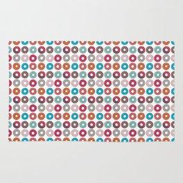 Colourful, illustrated, glazed, sprinkle Donut pattern Rug