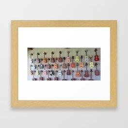UKELELES Framed Art Print