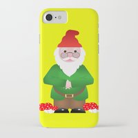 gnome iPhone & iPod Cases featuring Gnome by lescapricesdefilles