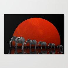 linking elephants Canvas Print
