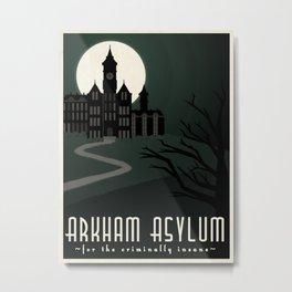 Arkham Asylum for the Criminally Insane Metal Print