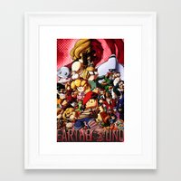 earthbound Framed Art Prints featuring EarthBound - Super NES Love by DA Productions