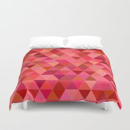 Red triangle tiles Duvet Cover