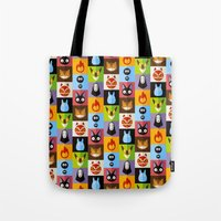 calcifer Tote Bags featuring Miyazaki's by badOdds