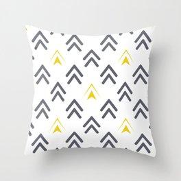 Texture of arrows Throw Pillow