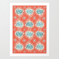 Nordic Heart Art Print