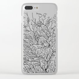 US River Map, River art, American River Map, Hydrological Map Clear iPhone Case