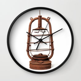 Very old kerosene lamp Wall Clock