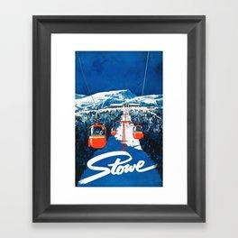 Stowe Ski Poster Framed Art Print