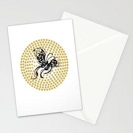 A black butterfly Stationery Cards