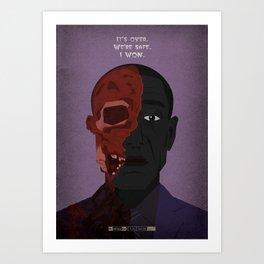 Breaking Bad - Face Off Art Print
