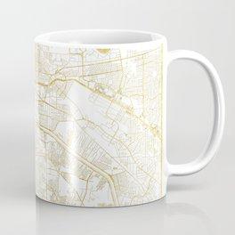 El Paso Map Gold Coffee Mug