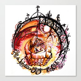 The Globe Theatre - All the World's A Stage Illustration Canvas Print