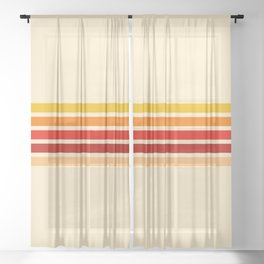 5 Colorful Stripes 22 Sheer Curtain