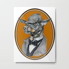 Min-Pin Holmes Metal Print