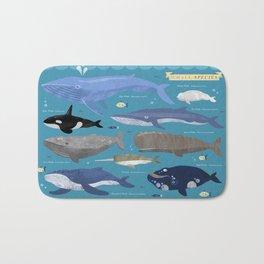 Whale Species Bath Mat