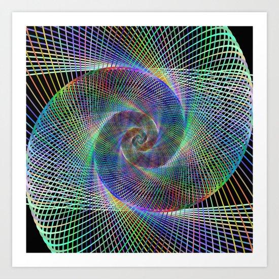 Fractal spiral Art Print