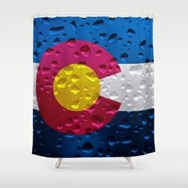 Flag of Colorado - Raindrops Shower Curtain