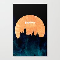 hogwarts Canvas Prints featuring Hogwarts by IA Apparel